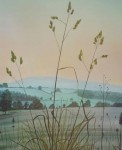 October Evening by Jeane Duffey, 17x14, printed in England - offset lithograph reproduction vintage fine art print