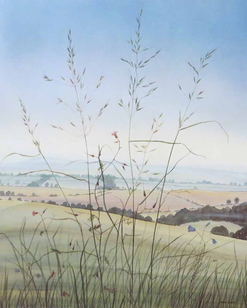 Wild Oats by Jeane Duffey, 17x14, printed in England - offset lithograph reproduction vintage fine art print