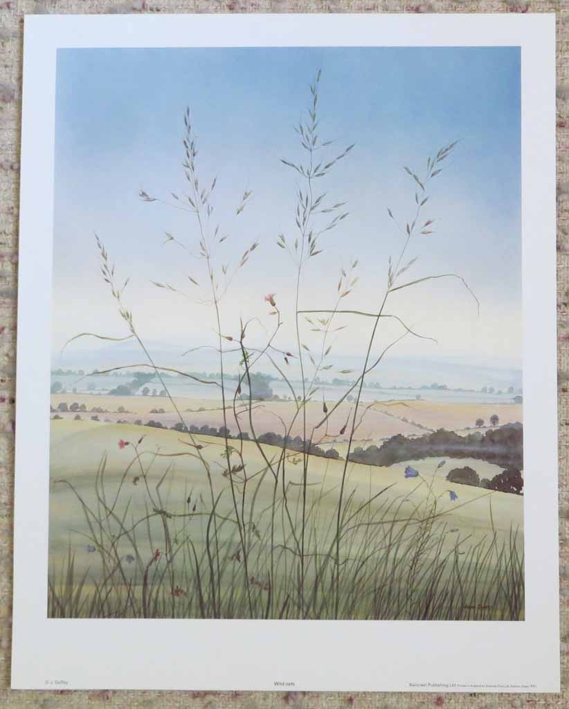 Wild Oats by Jeane Duffey, 17x14, printed in England, shown with full margins - offset lithograph reproduction vintage fine art print