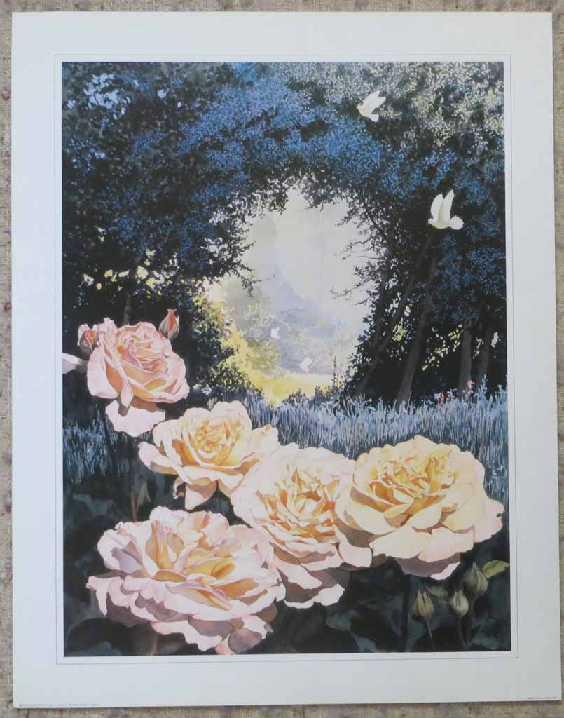 Peace by Jeane Duffey, 24x18, printed in England, shown with full margins - offset lithograph reproduction vintage fine art print