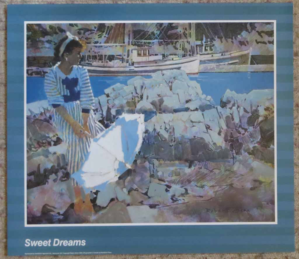 Sweet Dreams by Robert Genn, shown with full margins - offset lithograph reproduction vintage poster art print