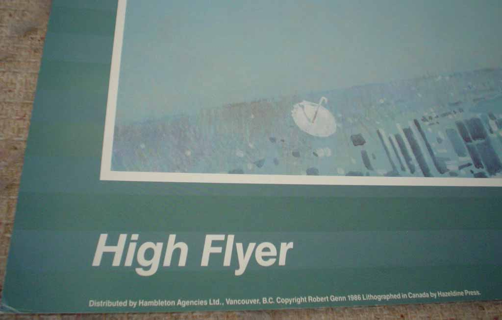 High Flyer by Robert Genn, detail to show publishing information - offset lithograph reproduction vintage poster art print