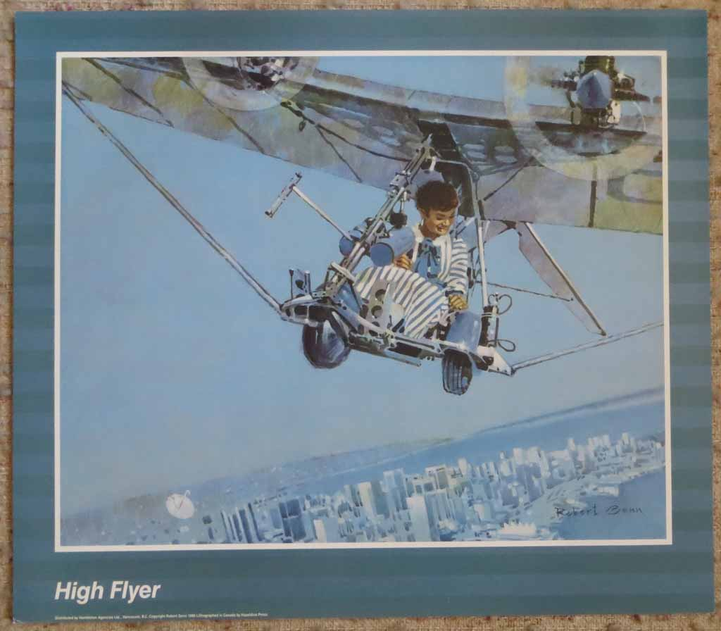 High Flyer by Robert Genn, shown with full margins - offset lithograph reproduction vintage poster art print