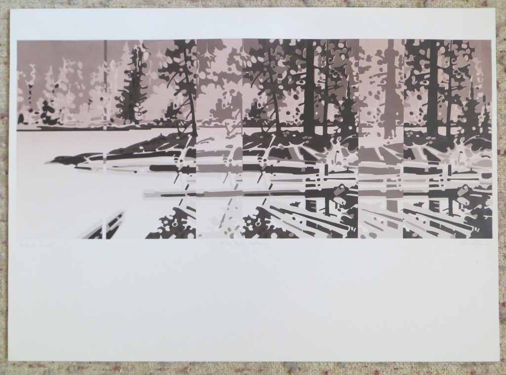 Nita Lake Pattern by Robert Genn, Artist's Proof, titled and signed by artist, shown with full margins - offset lithograph limited edition vintage fine art print