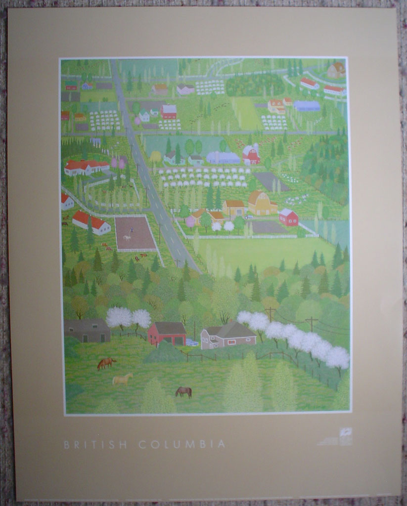 South On Johnson Farm Road by Robert Michener, from the Vancouver Expo'86 Discovery Series, shown with full margins - offset lithograph reproduction vintage poster art print