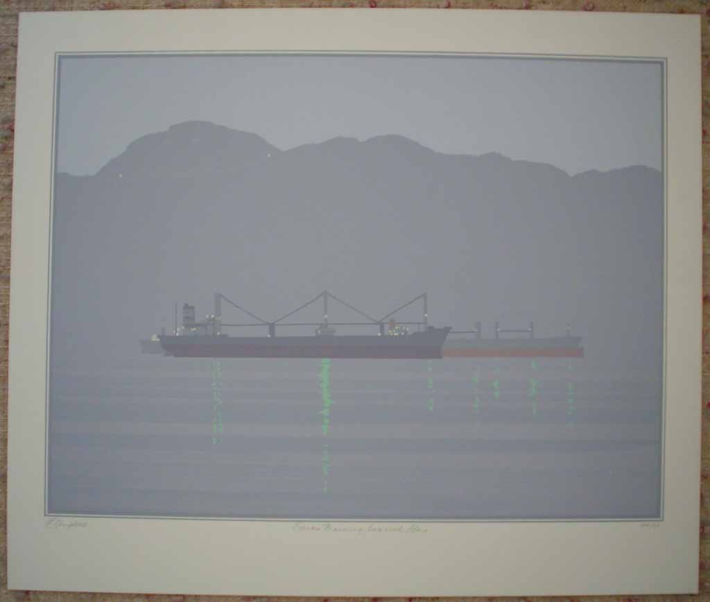 Early Morning English Bay by Leyda Campbell, shown with full margins - original screenprint/silkscreen limited edition fine art print, signed, titled and numbered 44/85 by artist