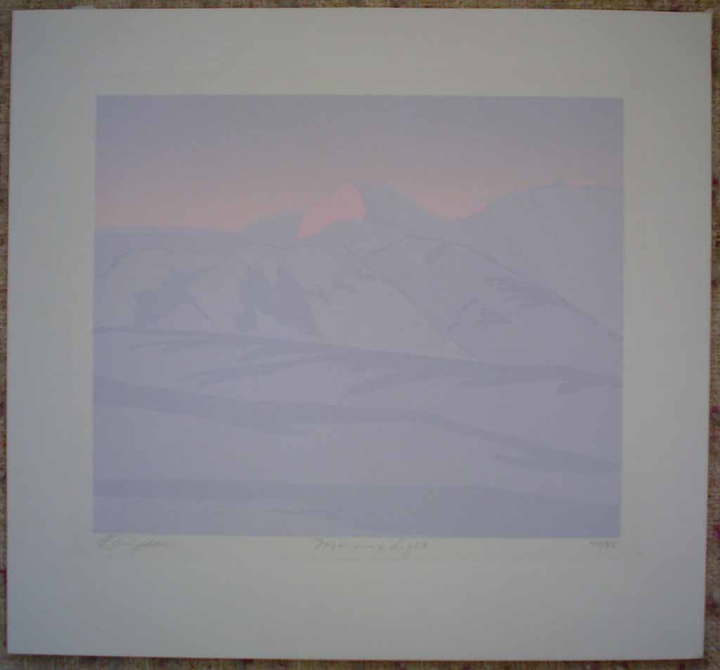 Morning Light by Leyda Campbell, shown with full margins - original screenprint/silkscreen limited edition fine art print, signed, titled and numbered 48/88 by artist