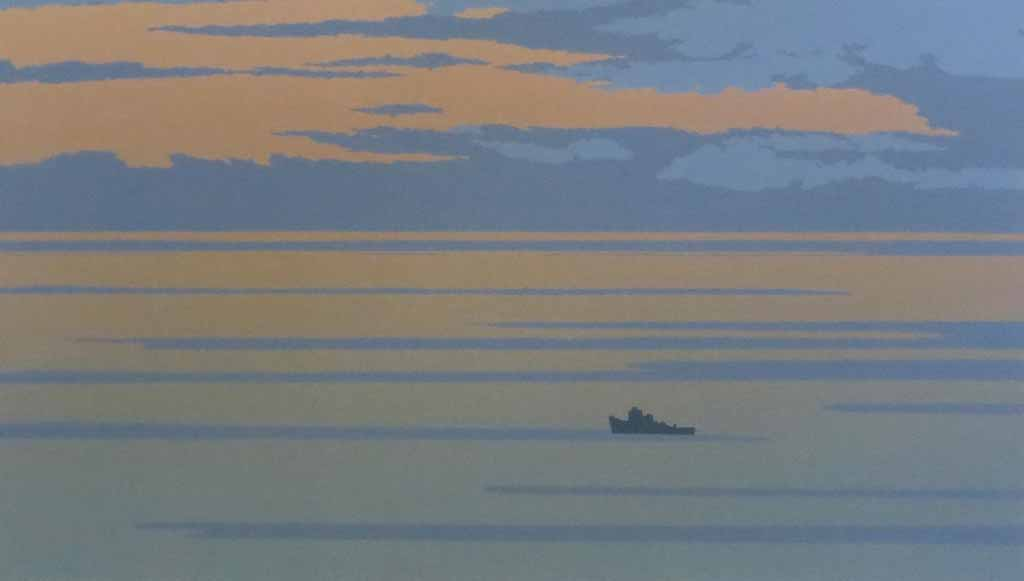 Georgia Strait by Leyda Campbell - original screenprint/silkscreen limited edition fine art print, signed, titled and numbered 56/100 by artist