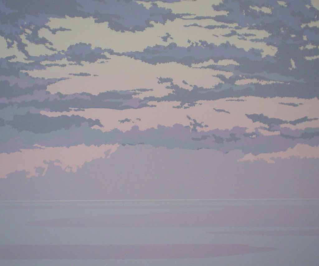 Pacific Sunset by Leyda Campbell - original screenprint/silkscreen limited edition fine art print, signed, titled and numbered 88/198 by artist
