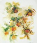"""Golden Rosehips"" by Klaus Meyer Gasters - vintage 1977 offset lithograph reproduction watercolour collectible fine art print (size 12.5 x 10.75 inches/31.75 x 27 cm) - KerrisdaleGallery.com"