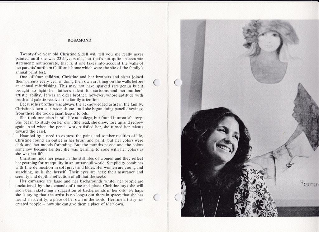 KerrisdaleGallery.com - Christine Rosamond, Biography & Photo of Artist - Stock ID#CR850lv-sntd-c