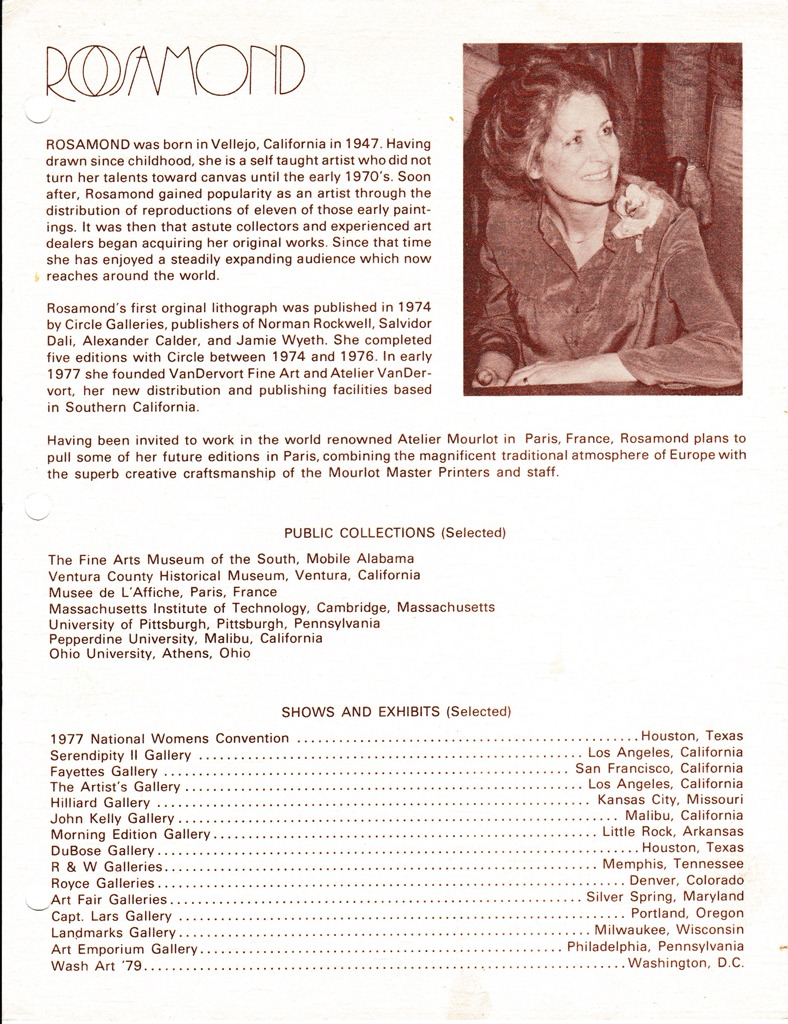 KerrisdaleGallery.com - Christine Rosamond, Biography, Shows and Exhibitions - Stock ID#CR850lv-sntd-c