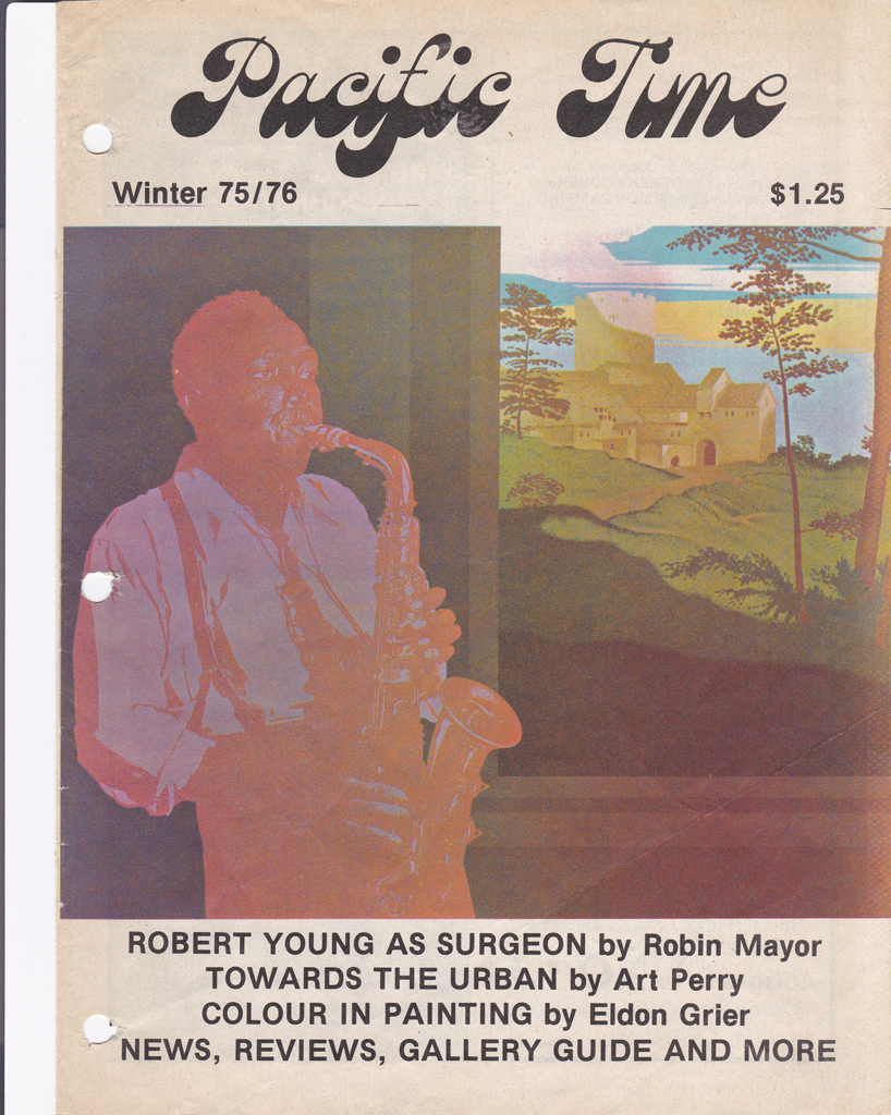 "KerrisdaleGallery.com - Stock ID#YR116sh-snd-c - ""Inside Sounds"" by Robert Young, magazine article cover - original serigraph/silkscreen, limited edition of 150 - numbered 116/150, dated and signed by artist - vintage fine art print"