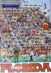"KerrisdaleGallery.com - Stock ID#HJ980pv - ""University of Florida Gators Football"" by John Holladay - offset lithograph poster - University of Florida, Gainesville FL, UF Gators, Florida Field, The Swamp - vintage 1980s collectible poster/ art print"