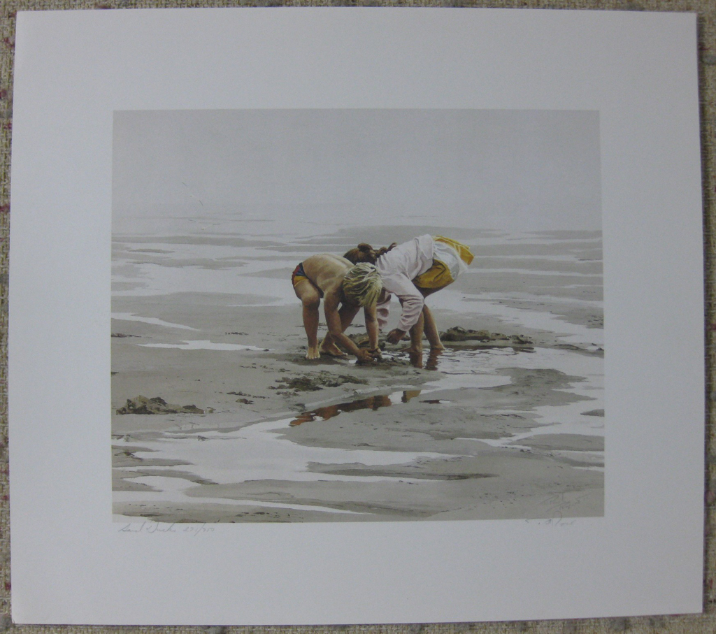 KerrisdaleGallery.com - stock ID#RP271ph-snt - Sand Ducks by Paul Rupert, shown with full margins - Limited Edition 271/950, 1987 offset lithograph; numbered, titled and signed in pencil by the artist
