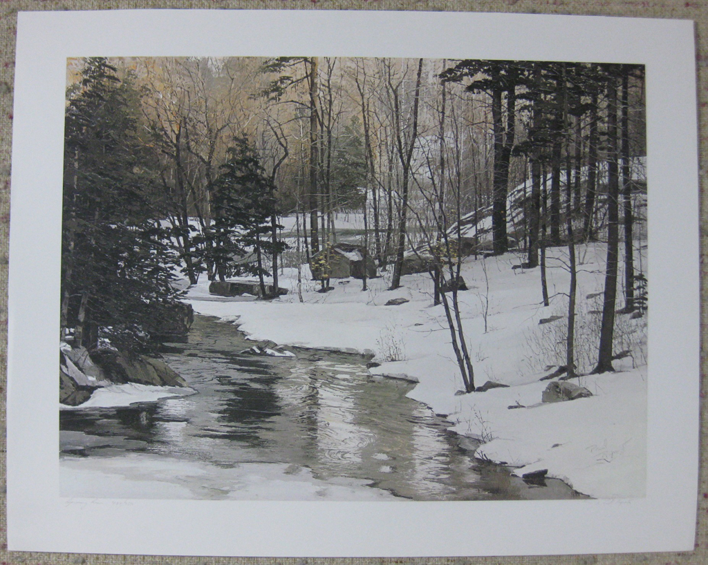 KerrisdaleGallery.com - stock ID#RP484ph-snt - Spring Run by Paul Rupert, shown with full margins - Limited Edition 484/750, 1986 offset lithograph; numbered, titled and signed in pencil by the artist