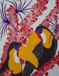 KerrisdaleGallery.com - stock ID#SG118ev-snt - Toucans by G. Clark Sealy, shown with full margins - original etching circa 1980s, limited editon, numbered 118/175, titled and signed by the artist
