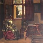 Lady at the Window by Pieter DeHooch