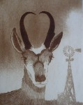 High Plains Drifter by Nancy Leslie - original etching, signed and numbered edition of 200