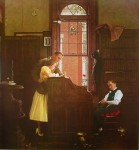 The Marriage License by Norman Rockwell - offset lithograph fine art print