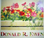 Sun Valley Window Box by Donald Ewen, hand-signed by artist - fine art poster print