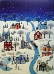 The Night After Christmas by Nancy Albro - offset lithograph fine art print