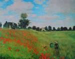 Corn Poppies by Claude Monet - offset lithograph fine art print