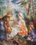The Apple Seller by Pierre-Auguste Renoir - offset lithograph fine art print