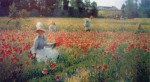 In Flanders Field Where Soldiers Sleep And Poppies Grow by Robert Vonnoh - offset lithograph fine art print