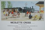 Train Station, by Nicolette Cross, 1984 Exhibition, Federation Galleries, Water Street, Vancouver - offset lithograph fine art poster print