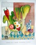 Salad Bowl by Patti Dahl, Artique Gallery, Anchorage Alaska - offset lithograph fine art poster print