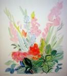 Gladioli by Raoul Dufy - offset lithograph fine art print