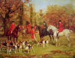 The Meet by Hewyood Hardy - offset lithograph fine art print