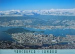 Vancouver, Canada, 1995 by Uwe Meyer - aerial photograph offset lithograph fine art poster print