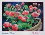 Blooms by Helen Paul - offset lithograph fine art poster print