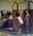 Before The Bath by Paul Peel - offset lithograph fine art print