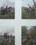 Hunting Incidents by Sheldon Williams - restrike etching, hand-coloured original print