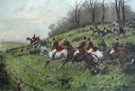 Gone Away! by George Wright - restrike etching, hand-coloured original print