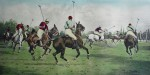 Getting Away With The Ball by George Wright - restrike etching, hand-coloured original print