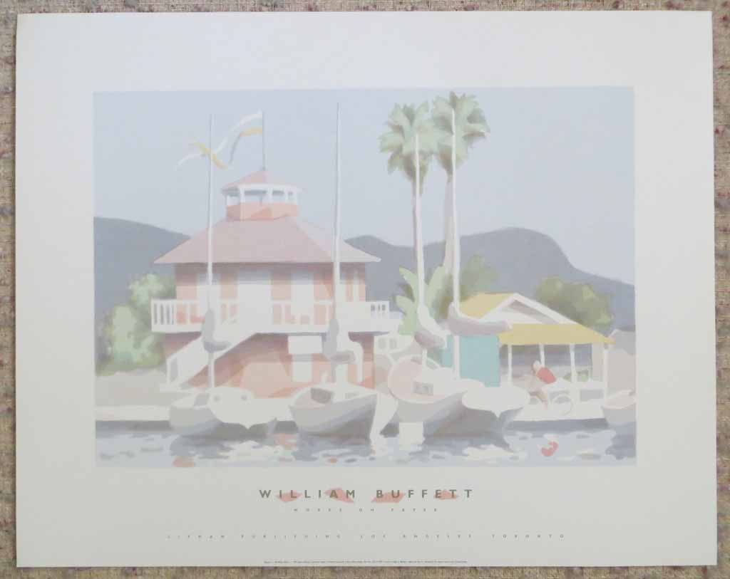 Works On Paper, Newport by William Buffett, shown with full margins - offset lithograph vintage fine art poster print
