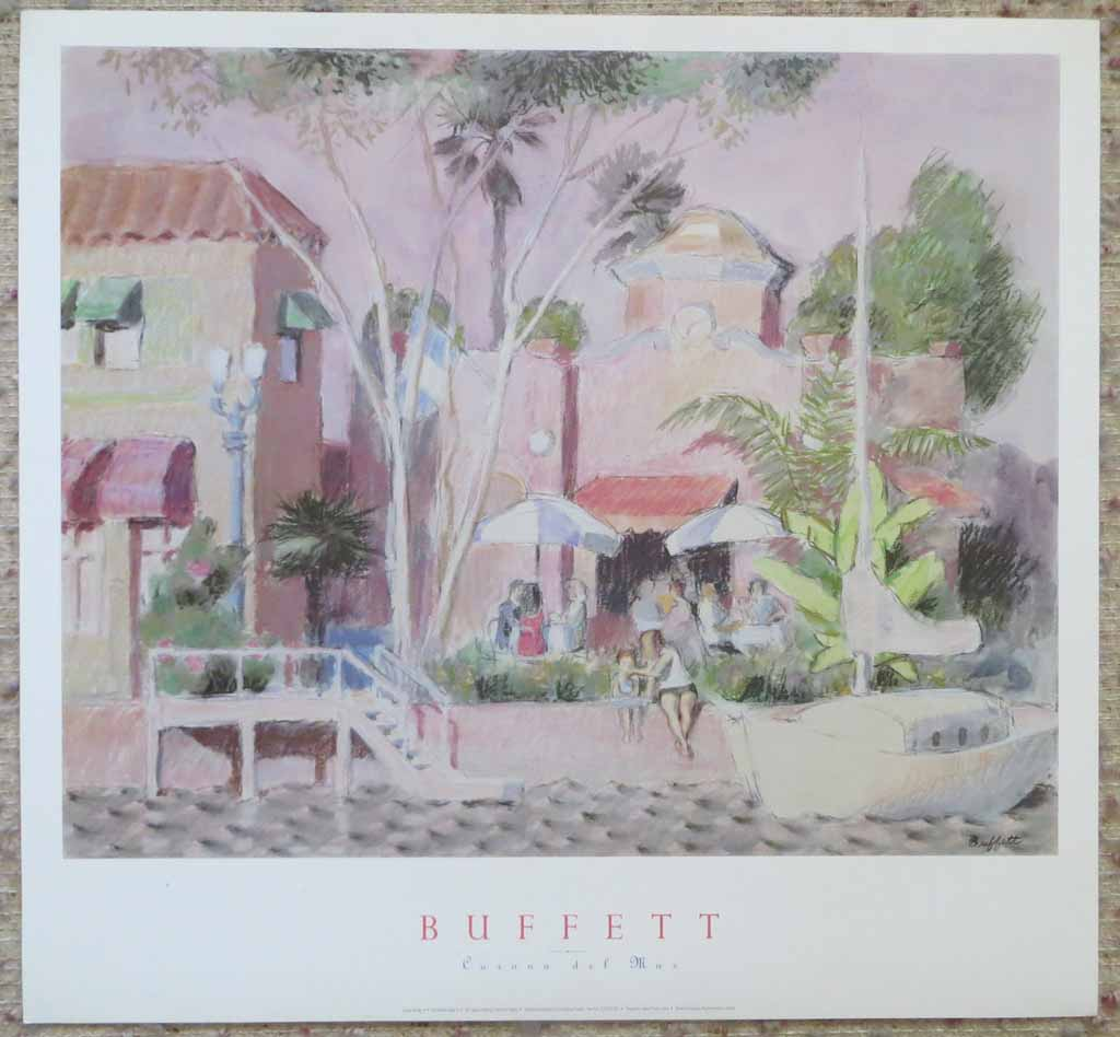 Corona Del Mar by William Buffett, shown with full margins - offset lithograph vintage fine art poster print