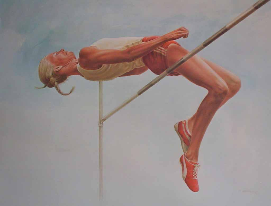 The High Jumper by Ken Danby - offset lithograph reproduction vintage fine art print