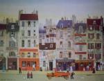 Au Bon Muscadet by Michel Delacroix - offset lithograph reproduction vintage fine art print