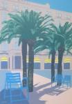 Cannes by Quentin King - original silkscreen fine art poster