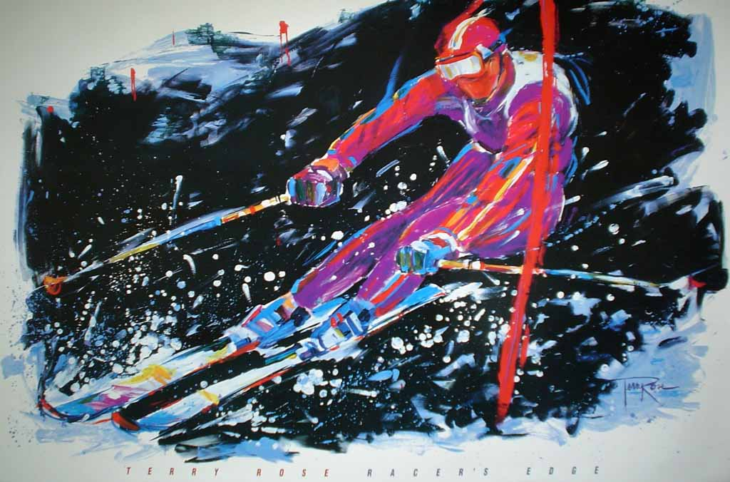 Racer's Edge by Terry Rose - offset lithograph vintage poster print art reproduction