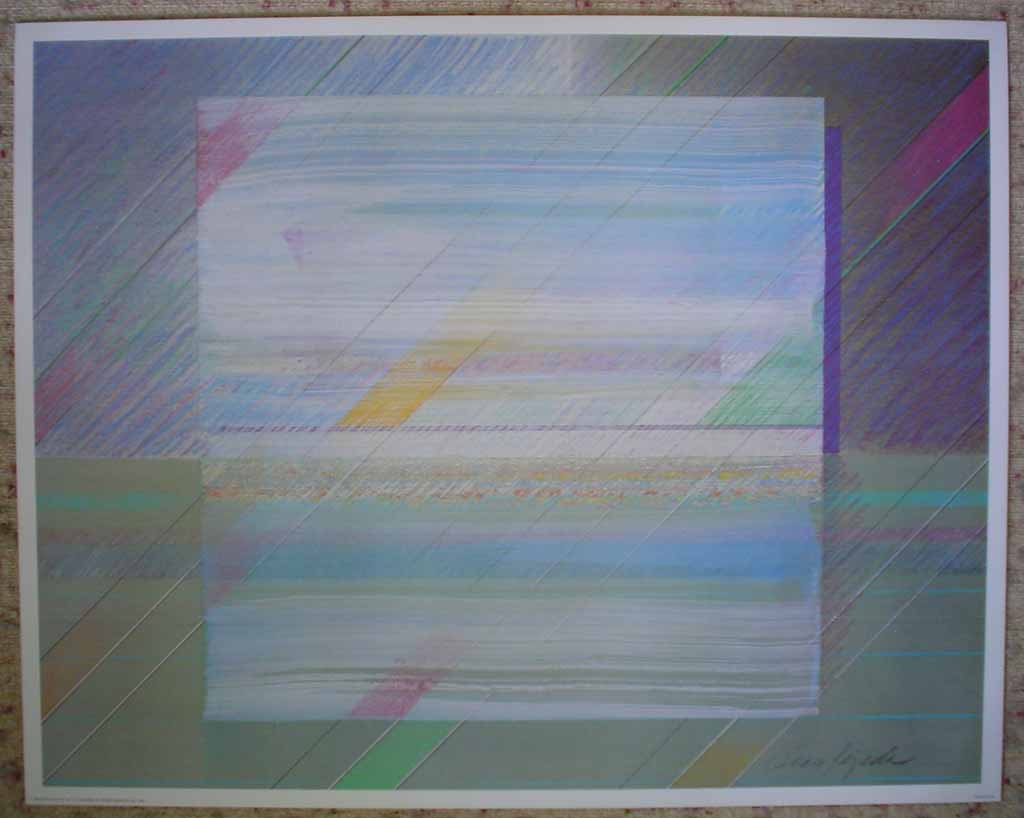 Mirror Image by Oscar Tejeda, shown with full margins - offset lithograph vintage fine art print