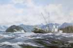 Seiners Running by Robert McVittie, numbered 110/950 and signed by artist - offset lithograph limited edition vintage fine art print