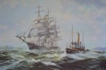 An Offshore Breeze by Robert McVittie, numbered 223/350, titled and signed by artist - offset lithograph limited edition vintage fine art print