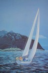 Coastal Challenge by Robert D. Stacey, signed and titled by artist, numbered 80/300 - offset lithograph limited edition print fine art reproduction