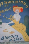 Amandines de Provence, Bisquits H. Lalo by Leonetto Cappiello, published by P. Vercasson, turn-of-the-century French Advertising Poster - offset lithograph reproduction vintage ©1978 poster art print